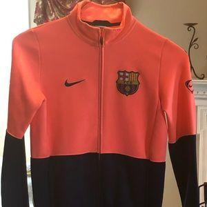 Men's Nike FCBarcelona Zip Up Jacket.